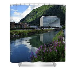 Juneau Federal Building Shower Curtain by Cathy Mahnke