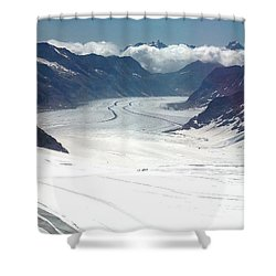 Jungfrau Glacier Shower Curtain
