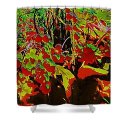 Jungle Abstract Shower Curtain by Mike Breau