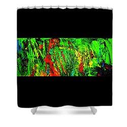 Jungle Beat Shower Curtain by Monique Wegmueller