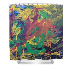 Shower Curtain featuring the painting Jungle by Donald J Ryker III