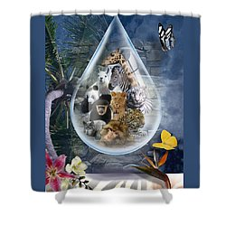 Jungle Drop Shower Curtain