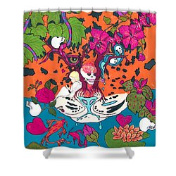 Shower Curtain featuring the digital art Jungle Fever 5 by Stephanie Grant