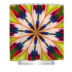 Jungle Flower Bloom Shower Curtain by Alec Drake