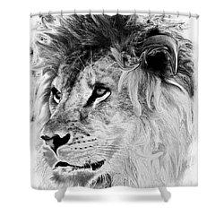 Jungle King Shower Curtain