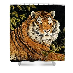 Jungle Monarch Shower Curtain by Rick Bainbridge