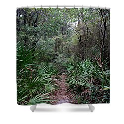 Jungle Trek Shower Curtain by David Troxel