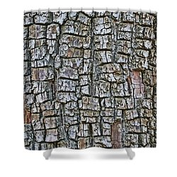 Juniper Bark- Texture Collection Shower Curtain by Tom Janca