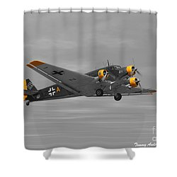 Junkers Ju 52 Shower Curtain by Tommy Anderson