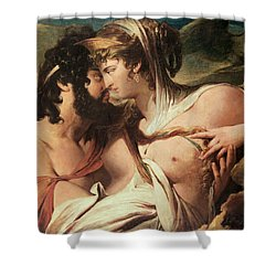 Jupiter And Juno On Mount Ida Shower Curtain by James Barry