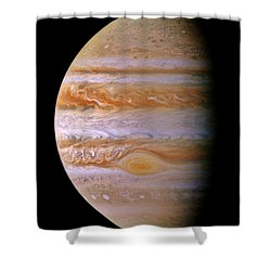 Jupiter And The Spot Shower Curtain by Benjamin Yeager