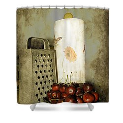 Just A Bowl Of Cherries Shower Curtain