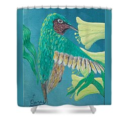 Just A Hummingbird Shower Curtain