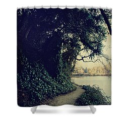 Just Around The Corner Shower Curtain by Laurie Search