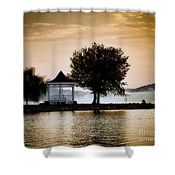 Shower Curtain featuring the photograph Just Before Sunrise by Kerri Farley