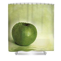 Just Green Shower Curtain by Priska Wettstein