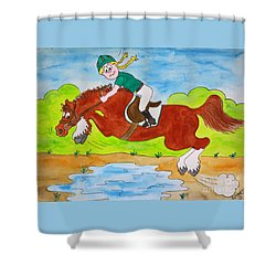 Just Jump Shower Curtain
