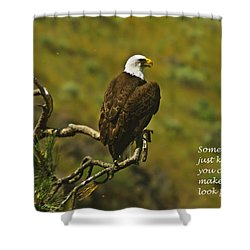 Just Knowing Shower Curtain by Jeff Swan