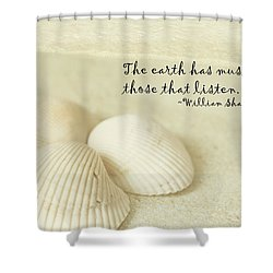 Just Listen Shower Curtain
