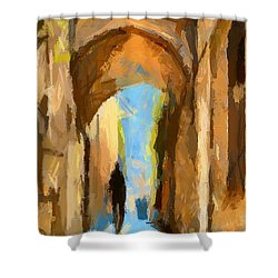 Just Me And My Shadow Shower Curtain by Dragica  Micki Fortuna