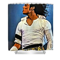 Just Michael Shower Curtain by Florian Rodarte