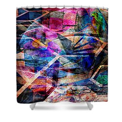 Just Not Wright - Square Version Shower Curtain