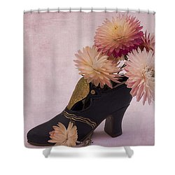 Shower Curtain featuring the photograph Just One Shoe by Sandra Foster