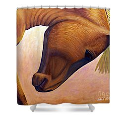 Just Plain Horse Sense Shower Curtain by Brian  Commerford