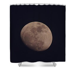 Just The Moon Shower Curtain by Jeff Swan
