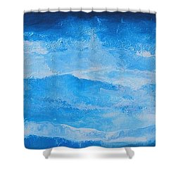 Just The Waves Shower Curtain