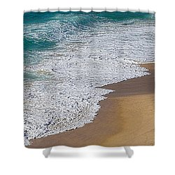 Just Waves And Sand By Kaye Menner Shower Curtain