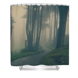 Just Whisper Shower Curtain by Laurie Search