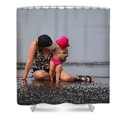 Just You And I Shower Curtain by Karol Livote