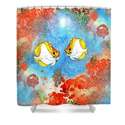 Just You And Me Babe Shower Curtain