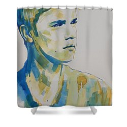 Justin Bieber Shower Curtain by Chrisann Ellis