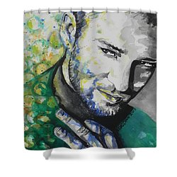 Justin Timberlake...01 Shower Curtain by Chrisann Ellis