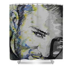 Justin Timberlake...02 Shower Curtain by Chrisann Ellis