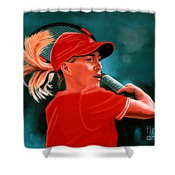 Justine Henin  Shower Curtain