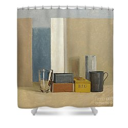 K L G Shower Curtain by William Packer