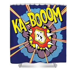 Ka-boom 2 Shower Curtain