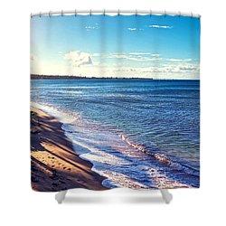 Kaanapali Beach Shower Curtain by Lars Lentz