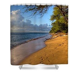 Kaanapali Beach Stroll Shower Curtain by Heidi Smith