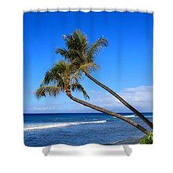 Kaanapali Hawaii Shower Curtain by DJ Florek