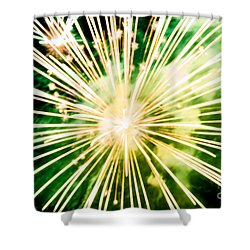 Shower Curtain featuring the photograph Kaboom by Suzanne Luft