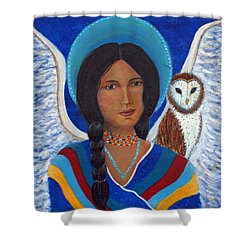 Kachina A Hopi Earthangel Shower Curtain by The Art With A Heart By Charlotte Phillips