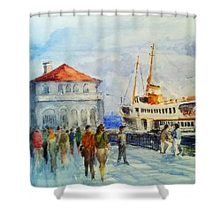 Kadikoy Ferry Arrives Shower Curtain
