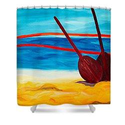 Kaeti's Canoe Shower Curtain by Beth Cooper