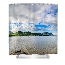 Kahaluu Fish Pond Panorama Shower Curtain