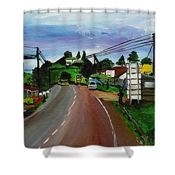 Kaihura Trading Center Shower Curtain