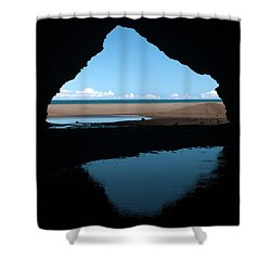 Kalalau Cave Shower Curtain by Brian Harig